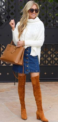 0d183a9dd187 229 Best Over the Knee Boots Outfit Ideas images in 2019