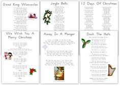 Printable carols and Christmas songs