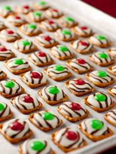 Take advantage of holiday edition candy by combining M&M's and pretzels to make delicious sweet-and-salty treats.