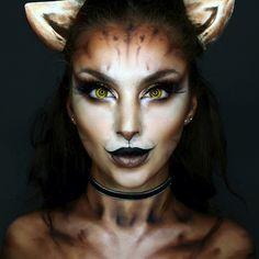 Examples of Halloween Makeup Inspo - Diy Make up Ideen - Makeup Inspo, Makeup Art, Makeup Inspiration, Cat Face Makeup, Black Cat Makeup, Makeup Tips, Kitty Makeup, Clown Makeup, Mac Makeup