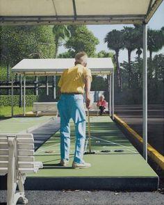 """Shuffleboard"" 2011, oil - Max Ferguson"