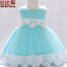 2018 NEW Baby Lace Flower Christening Gown Baptism Clothes Newborn Kids  Girls Birthday Princess Infant Party Dresses Costume Baby Lace Flower Gown  Clothes ... 96762fb50bef