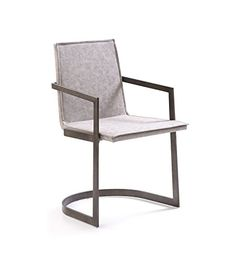 Modrest Jago Modern White Wash Grey Dining Chair (Set of 2) Grey