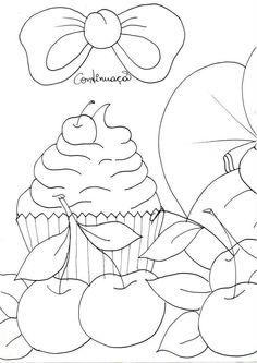 cherry n cupcake drawingJoaninha 1
