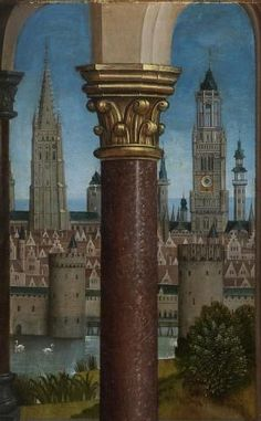 15th century Flemish town view