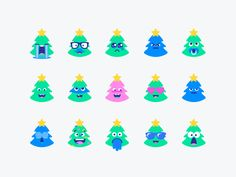 Christmas Tree Smiley Set by Zivile Zickute