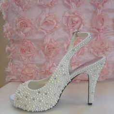 pearls on shoes