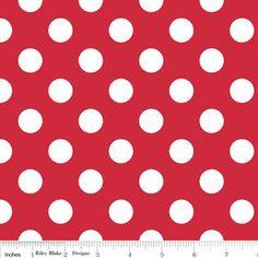 Medium Red Dots From Riley Blake 1 Yard
