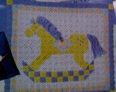 Vintage Crochet Rocking Horse Afghan Pattern