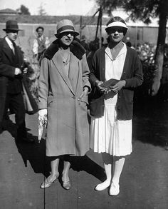 411f3a4f5ff Tennis players Suzanne Lenglen ( dressed by Patou) and Helen Wills Moody in  Cannes in