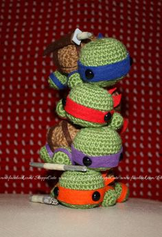 Teenage Mutant Ninja Turtles crochet by icanhazcuteness.deviantart.com on @DeviantArt