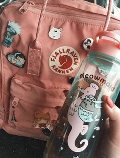 Two-way zipper with rain flap for protection. Long adjustable shoulder straps for adults and kids. Dual top snap handles for quick carry. Stay Hydrated, Pusheen, Detox Tea, Kanken Backpack, Backpacks, Bottle, Classic, Bags, Shoulder Straps