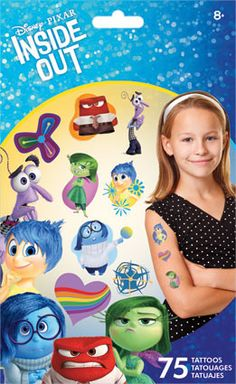 75 Disney Inside Out Movie Temporary Tattoos Party Favors