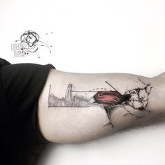 🍃✊🏻💪🏻 #superman #illustration #tattoo #tattoodesign #design #splash #ink #inked #bodyart #colorful