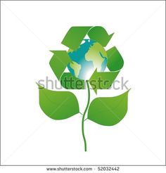 Eco Flower - stock photo
