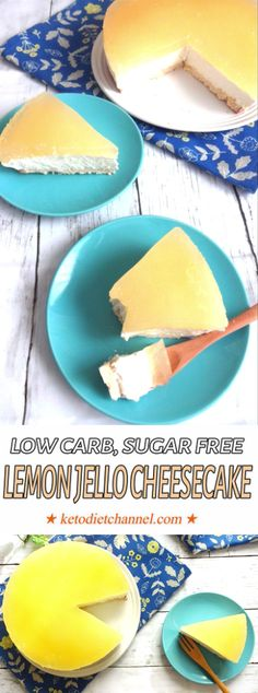 Lemon Jello Cheesecake - Low Carb, Sugar Free, Gluten Free