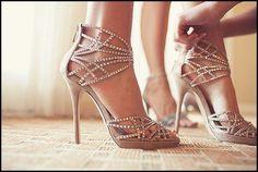 Shoe - Muddy High Heels Wedding Shoes For Bride #2034400 - Weddbook
