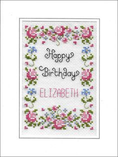Herzlichen Glückwunsch zum Geburtstag, Kreuz Stich-Karten-kit