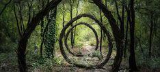 forest-land-art-nature by Spencer Byles. Organic Sculpture, Sculpture Art, Garden Sculptures, Geometric Sculpture, Metal Sculptures, Abstract Sculpture, Bronze Sculpture, Photoshop, Garden Art