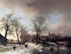 What an amazing window into the past.....Barend Cornelis Koekkoek (1803-1862)