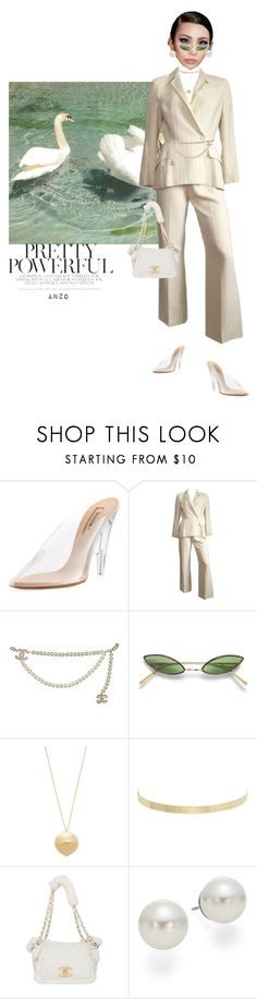 """""""CHANEL FW/SS18"""" by mwamini-anzo ❤ liked on Polyvore featuring Yeezy by Kanye West, Thierry Mugler, Chanel, Elizabeth and James, Kenneth Jay Lane, Karl Lagerfeld and AK Anne Klein"""