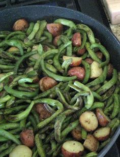 Life in a Little Red Farmhouse: Skillet green beans