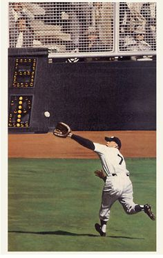 Mickey Mantle, New  York Yankees, during Don Larson's perfect game.