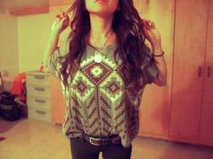 Tribal sweater is perfect for fall!