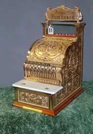 Brass Cash Register-- antiques<3