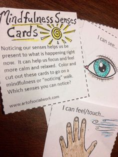 mindfulness cue card
