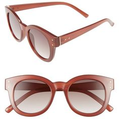 Women's Bp. 47Mm Sunglasses ($12) ❤ liked on Polyvore featuring accessories, eyewear, sunglasses, rust, summer glasses and summer sunglasses