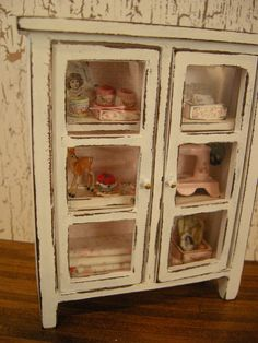 dollhouse miniature sewing cabinet by Mosswayminiatures on Etsy, $59.00
