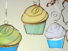 3 Custom CUPCAKES  Wedding Party Favors in by ShatteredbyLight, $15.00
