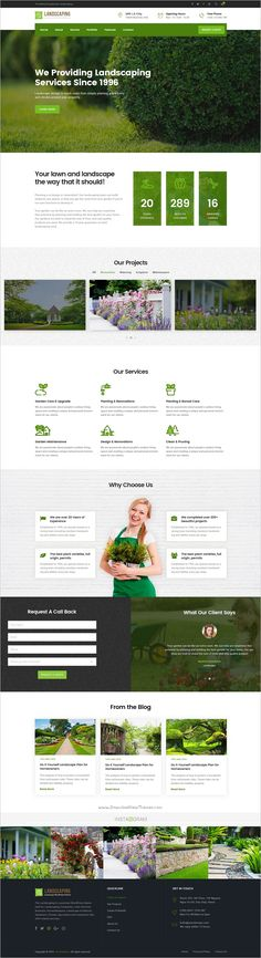 Landscaping is an elegant #PSD template built for #Groundskeepers, #Landscape Architects, #Gardeners, Florists, landscaping companies, Lawn Services Business, Agriculture and companies website download now➩ https://themeforest.net/item/landscaping-gardening-lawn-landscape-psd-template/19110701?ref=Datasata
