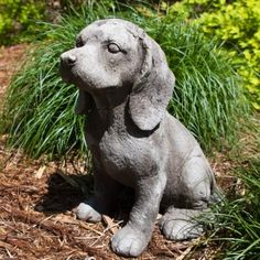 Its Ruff Out Cement Puppy Lawn Ornament, from GreatGiftsforMen.com