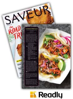 Suggestion about Saveur May 2015 page 65