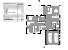 Projekt domu Homekoncept-27 - Novio.pl House Plans, Sweet Home, Floor Plans, How To Plan, Contemporary Houses, Type 1, Villa, Houses, Home