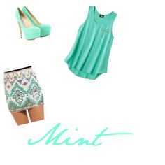 Mint outfit!!!!!(: