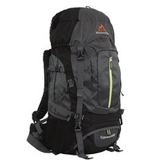 Favorite Camping Gear  | MISSION PEAK GEAR Cypress 3000 50L Internal Frame Backpack GrayMISSION PEAK GEAR Cypress 3000 50L Internal Frame Backpack Gray -- Click image for more details. Note:It is Affiliate Link to Amazon.