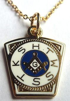 ORDER OF THE ROYAL ARCH Masonic Freemason Necklace PENDANT w/chain