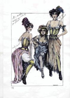 Original Costume Design - Lovely Ladies #theatre #lesmis #musicals www.lesmis.com
