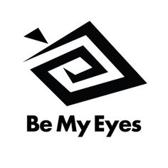 A visually impaired woman's experience using the Be My Eyes app, recently reviewed in AccessWorld Magazine. (Image: Be My Eyes logo)