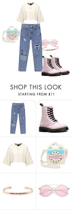 """Untitled #21"" by dedic-elvira ❤ liked on Polyvore featuring Dr. Martens, Betsey Johnson and MantraBand"