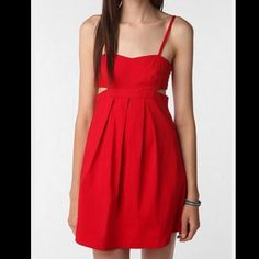 Urban Outfitters Red Cut Out Dress