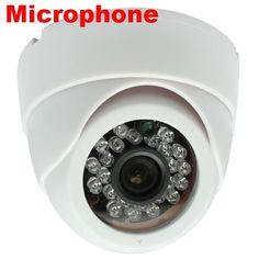 """Brand New GW Security Professional 600TVL Indoor Dome Security Camera with Microphone Built In - 1/3"""" Sharp CCD 600 TV Lines, 3.6mm Wide Angle Lens, 24 IR LEDs. Low Illumination 0 Lux (with IR LED on) by GW Security. $46.00. *Ship Fast with Tracking. 1 Year Warranty. Free Life Time Tech Support. Please feel free to contact us by email for any product inquiries.* Camera Specifications: Model GW734V Pick up Element 1/3"""" SHARP Effective Picture Elements (H*V) NTSC..."""