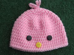 Easter Chick Baby Hat. FREE SHIPPING 1 hat by TalicakeCrochet, $12.99