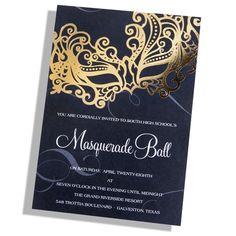 Masquerade Party Invitation dark version Digital File