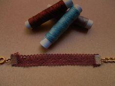 βραχιολάκι από δαντέλα χρώμα: brown κωδικός:ΤΙ67