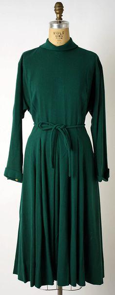 Dress Valentina  (American, born Russia, 1899–1989)  Date: 1940s Culture: American Medium: wool