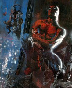 Spider-Man vs the Green Goblin by Gabriele Dell'Otto
